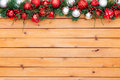 Holiday background featuring christmas garland