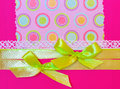 Holiday background with gift ribbon and bow Royalty Free Stock Photo