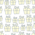 Holiday background of gifts vector present seamless pattern Royalty Free Stock Photography
