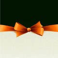 Holiday Background  with orange bow Stock Photos