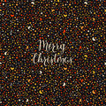 Holiday background with star texture and hand drawn words merry christmas Royalty Free Stock Photo