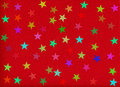Holiday background. stars on red rough paper Stock Images