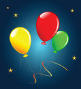 Holiday balloons. Stock Images