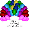 Holiday banners with colorful balloons vector of in various colors Stock Photos