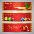 Holiday banners set of three red Royalty Free Stock Photography
