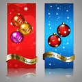 Holiday banners set of two Stock Image