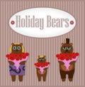 Holiday Bears. Set Royalty Free Stock Photo
