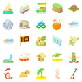 Holiday in Brazil icons set, cartoon style Royalty Free Stock Photo