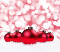 Holiday Bulbs With Sparkling Background Stock Photos