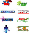 Holiday Calendar Tags Royalty Free Stock Images