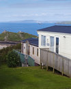 Holiday caravan park on a coast with sea view st ives cornwal england uk Stock Photos