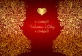 Holiday card with golden heart Royalty Free Stock Images