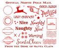 Holiday Christmas Official North Pole Santa Mail Clip Art Set Royalty Free Stock Photo