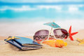 Holiday concept the summer or vacation on beach Stock Photo