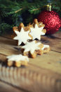 Holiday cookies christmas concept and bauble Stock Image