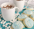 Holiday Cookies & Hot Cocoa Stock Images