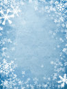 Holiday cover with snowflakes Royalty Free Stock Photo