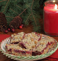 Holiday Cranberry Bars Stock Photos