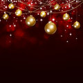 Holiday Dark Red Xmas Background Royalty Free Stock Photo
