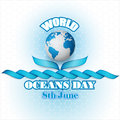 Holiday design for celebration of World Oceans day