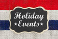 Holiday Events message Royalty Free Stock Photo
