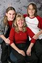 Holiday Family Portrait - Rabbit Ears Royalty Free Stock Photo