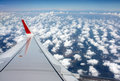 Holiday by flight scene of beautiful sea of cloudscape Royalty Free Stock Photos
