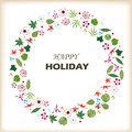 Holiday flower ring leaves Stock Photo