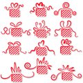 Holiday gifts with ribbons. Stock Photography