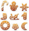 Holiday gingerbread cookies Stock Photo