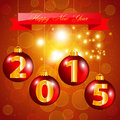 Holiday greeting card red balls with numbers of the year design Royalty Free Stock Photography