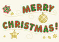 Holiday greeting - Merry Christmas! Royalty Free Stock Images