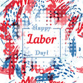 Holiday greetings illustration Labor Day