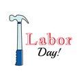 Holiday greetings illustration Labor Day