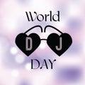 Holiday greetings illustration World Day DJ.