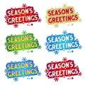 Holiday greetings - Season's Greetings! - 6 variants Royalty Free Stock Photo