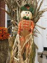 Holiday Halloween Scarecrow in October Royalty Free Stock Photo