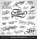 Holiday hand lettering set (vector) Stock Photo
