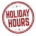 Holiday hours sign or stamp Royalty Free Stock Photo