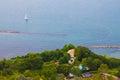 Holiday house on the sea photo of italian Stock Photo