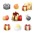 Holiday icon collection Stock Images