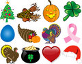Holiday Icon Set 2 Royalty Free Stock Photography