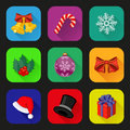 Holiday icons set flat design vector illustration Royalty Free Stock Photography
