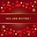 Holiday invitation Stock Photos