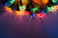 Holiday lights string of colorful Royalty Free Stock Images