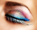 Holiday Make-up. False Lashes Royalty Free Stock Photo