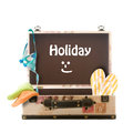 Holiday, packed suitcase Royalty Free Stock Photo