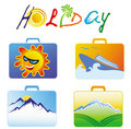Holiday packs Stock Photography