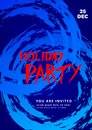 Holiday party poster. Elements for graphic design Royalty Free Stock Photo