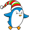 Holiday Penguin Vector Royalty Free Stock Images